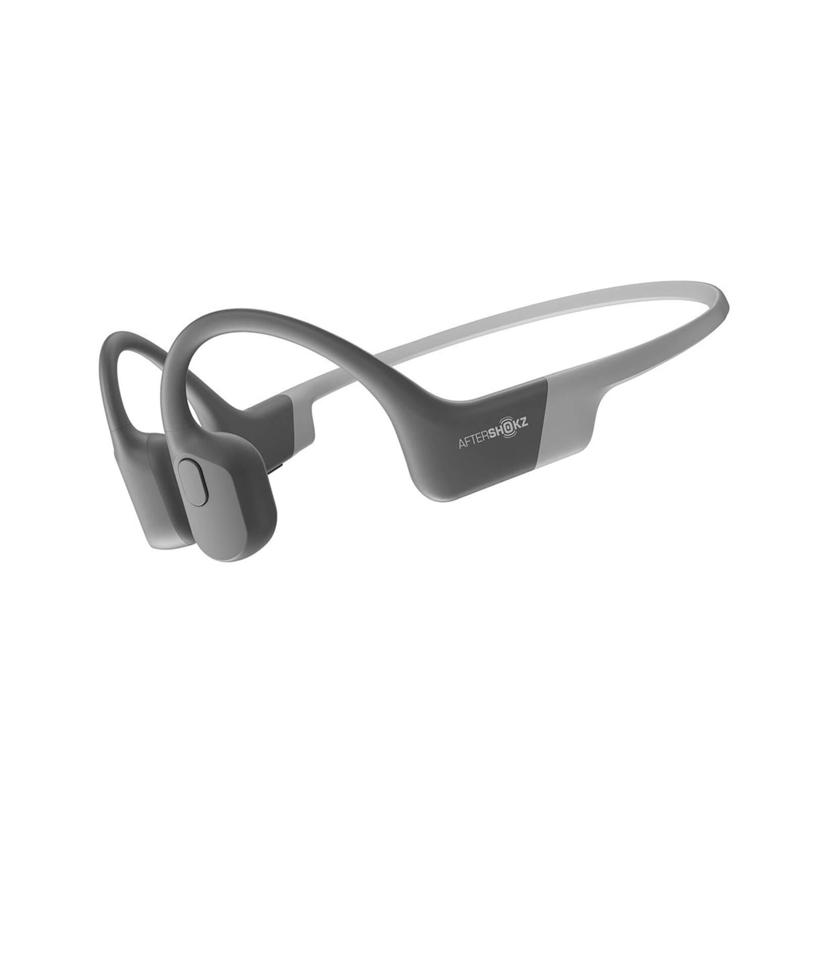 AFTERSHOKZ Casque Bluetooth AEROPEX Gris à conduction osseuse avec micro