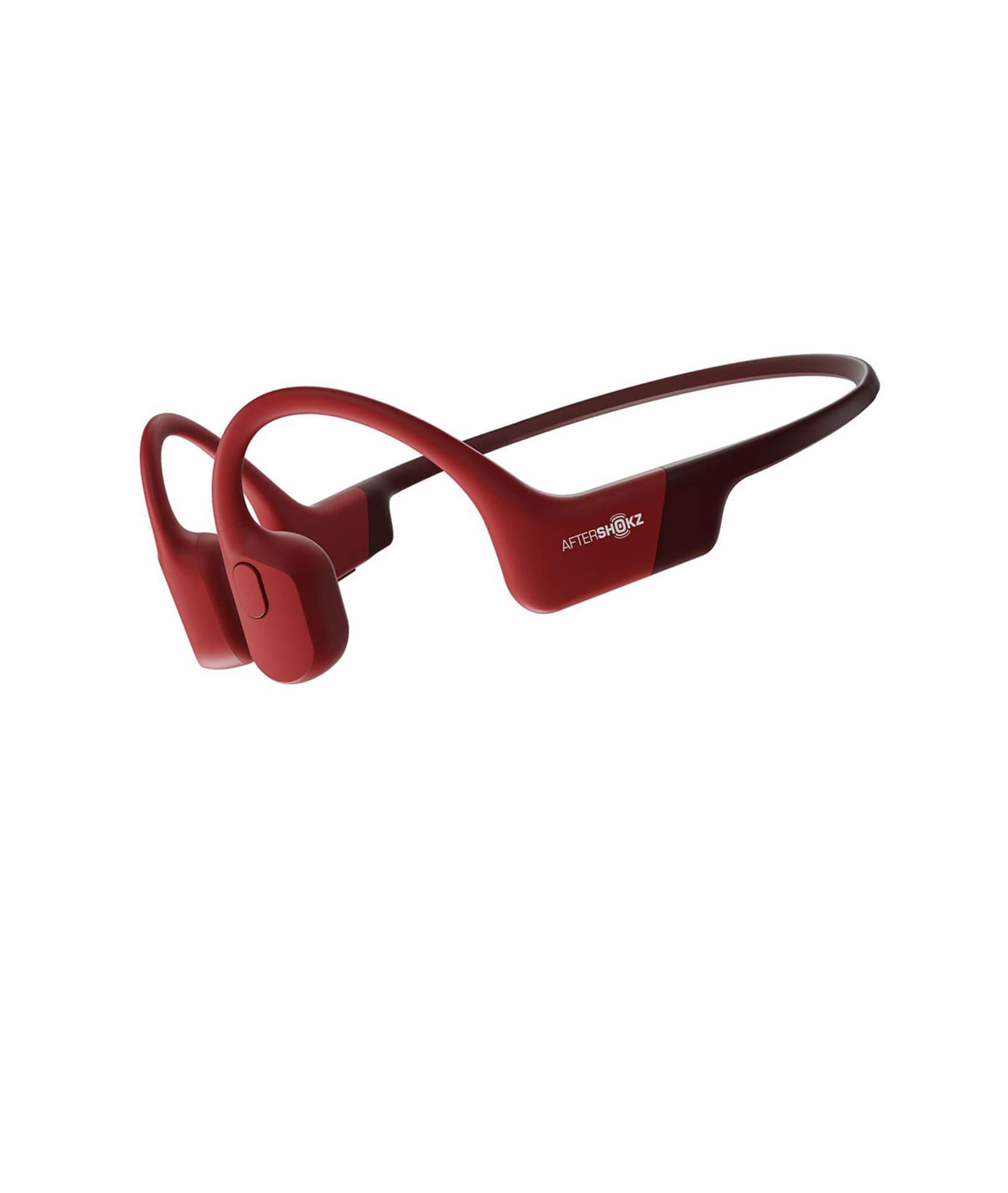 AFTERSHOKZ Casque Bluetooth AEROPEX Rouge à conduction osseuse avec micro