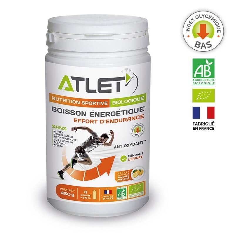 ATLET Boisson énergétique bio agrumes 450g