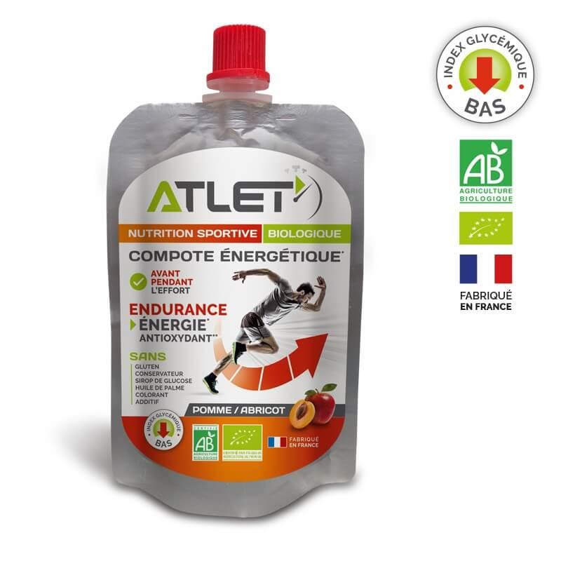 ATLET Compote énergétique bio pomme abricot