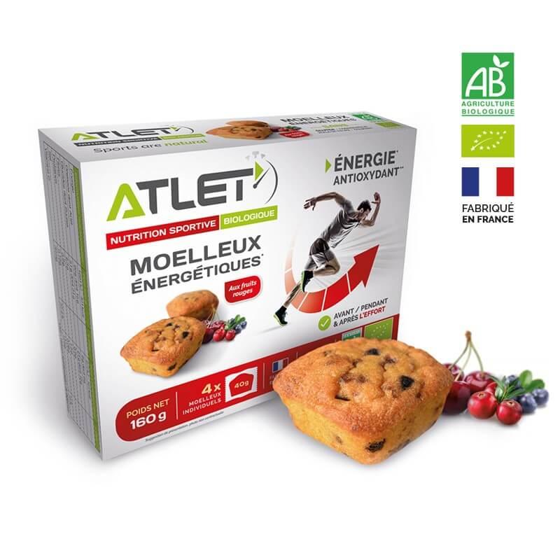 ATLET Moelleux énergétiques bio aux fruits rouges 4 x 40g