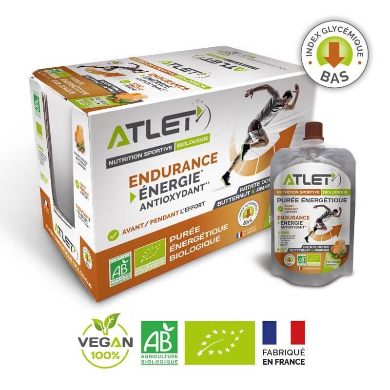 ATLET Pack de 18 purées énergétiques bio