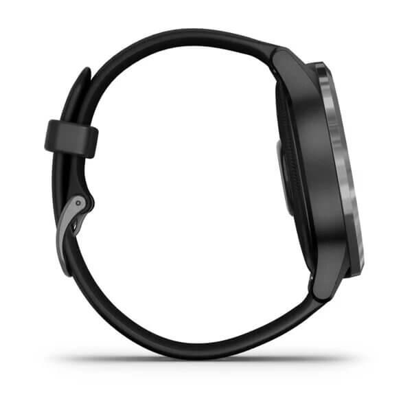 GARMIN Vivoactive®4 – Gunmetal avec bracelet silicone Noir